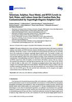 Selenium, Sulphur, Trace Metal, and BTEX Levels in Soil, Water, and Lettuce from the Croatian Raša Bay Contaminated by Superhigh-Organic- Sulphur Coal